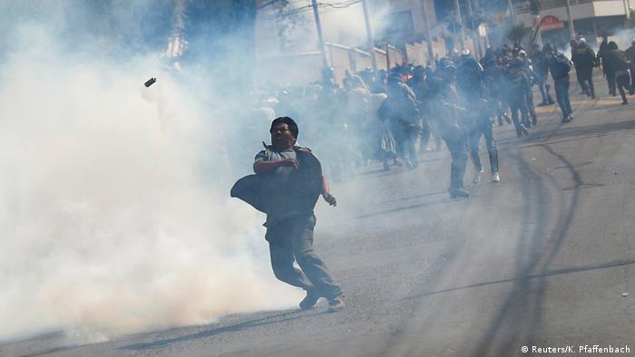 Enfrentamientos en La Paz.