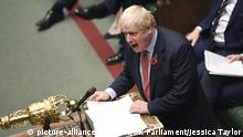 In this photo provided by the UK Parliament, Britain's Prime Minister Boris Johnson talks during the debate on the Early Parliamentary General Election Bill in the House of Commons, London, Tuesday, Oct. 29, 2019. After months of stalemate in Parliament, Britain appeared on course Tuesday for an early general election that could break the country's political deadlock over Brexit. Opposition lawmakers backed in principle the government's request to send voters to the polls in December —though Prime Minister Boris Johnson still faced a tussle over the exact date. (UK Parliament/Jessica Taylor via AP) |