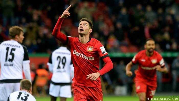 Bayer Leverkusen's Lucas Alario