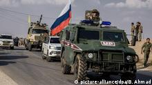 Militärischer Konflikt in Syrien | Russischen Militärpolizei und Kurdenmiliz YPG