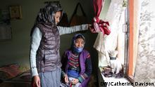 09.10.2019 *** Tashi Yudon, 27, with her mother, Sonam Lakit, 50, in their home in Chichim village. Both women fear what will happen to the village if the water shortages get worse.