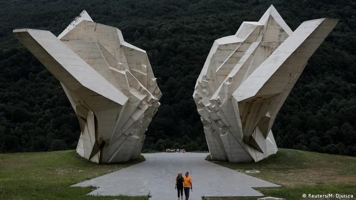Бетонные колоссы – часть так называемой Долины героев, мемориального комплекса в национальном парке Сутьеска.