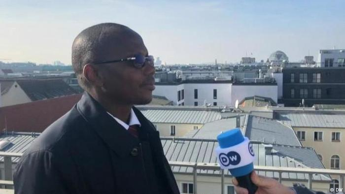 Burkinabe Education Minister Stanislas Ouaro talking to DW