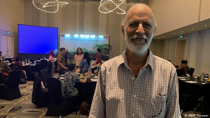 Indonesien Eco-Islam-Konferenz in Jakarta | Tofiq Pasha, Environment activist, Pakistan (DW/A. Tauqeer)