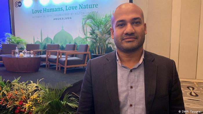 Indonesien Eco-Islam-Konferenz in Jakarta | Ahmad Shabbar, CEO GarbageCAN (DW/A. Tauqeer)