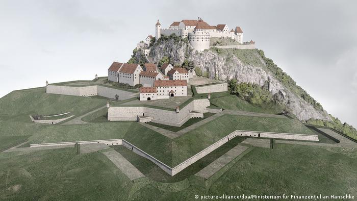 BdT Virtuelle Rekonstruktionen von Hohentwiel (picture-alliance/dpa/Ministerium für Finanzen/Julian Hanschke)