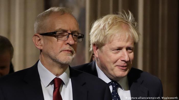 Boris Johnson, Jeremy Corbyn (picture-alliance/empics/K. Wigglesworth)