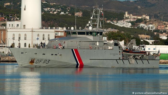 Ein französisches Patrouillenboot im Auftrag von Frontex im Hafen von Malaga (Foto: picture-alliance/ZumaPress)
