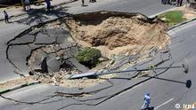 Bodenabsenkung in Teheran Stichworte: Iran, Bodenabsenkung, Umweltzerstörung Quelle Bild : irna.ir