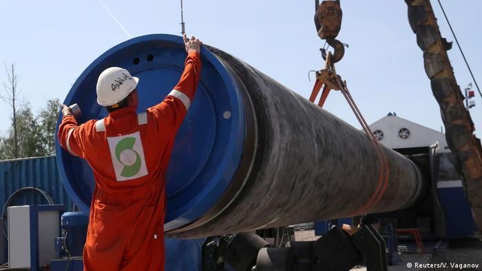 Russland Baustelle der Gasleitung in der Nähe der Stadt Kingisepp