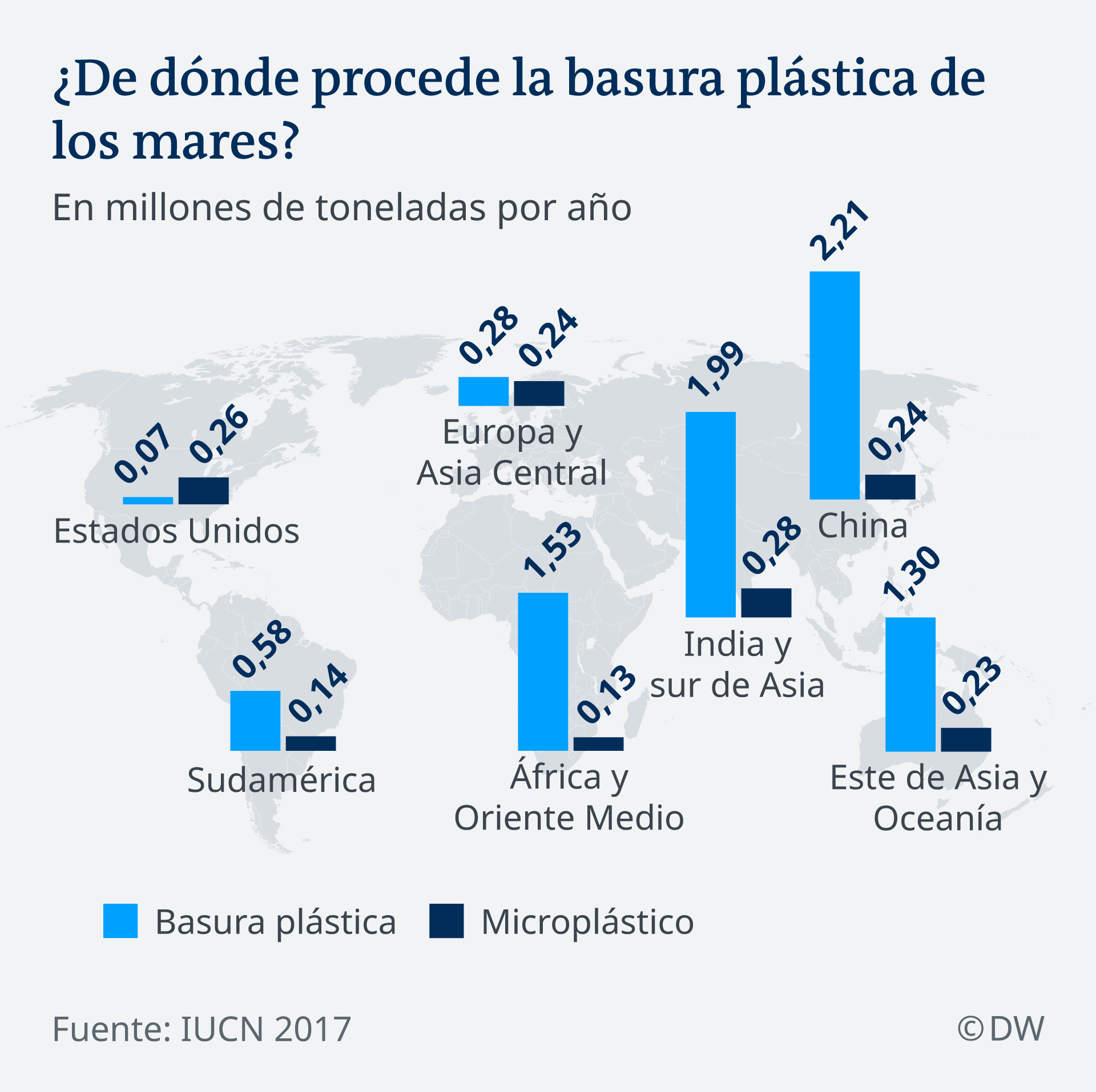 Infografik woher kommt der Plastikmüll in den Weltmeeren ES