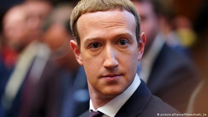 Washington Kongress Facebook CEO Mark Zuckerberg Kongress Aussage (picture-alliance/Photoshot/L. Jie)