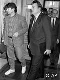 1985年,被戏称为运动鞋部长的菲舍尔(Joschka Fischer)