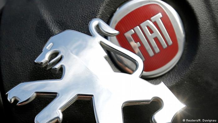 Логотипы Peugeot и Fiat