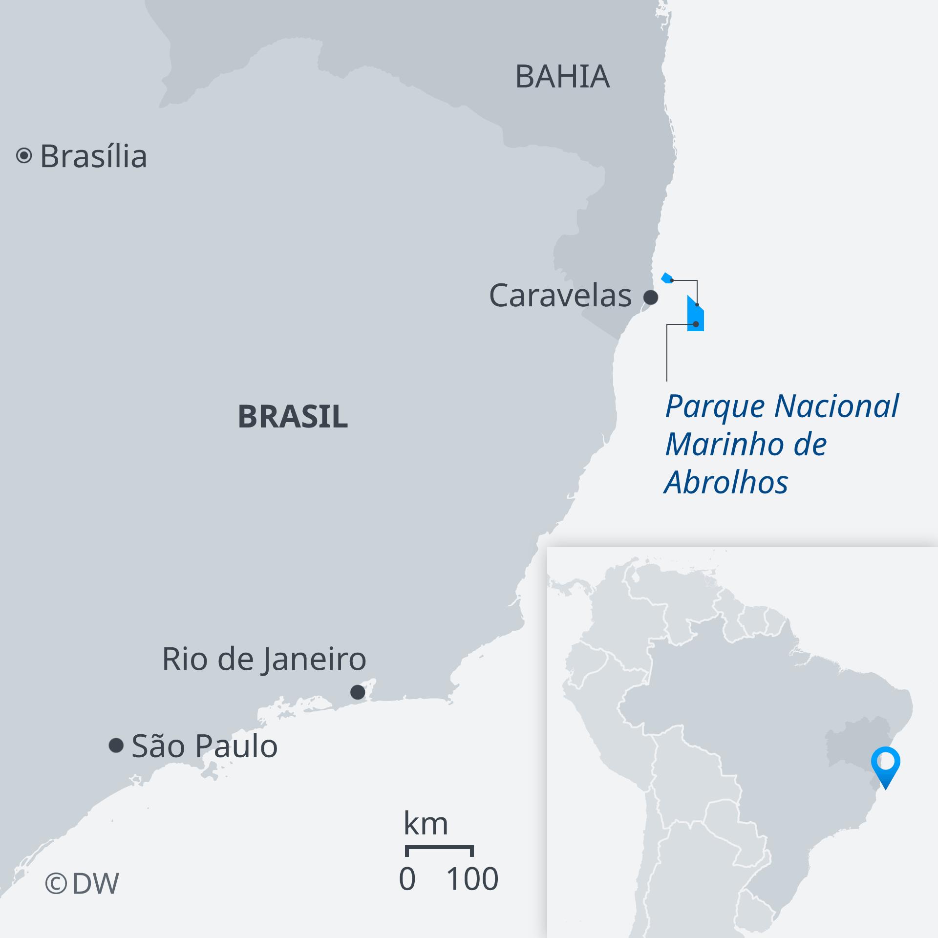Karte Naturpark Abrolhos Brasilien PT