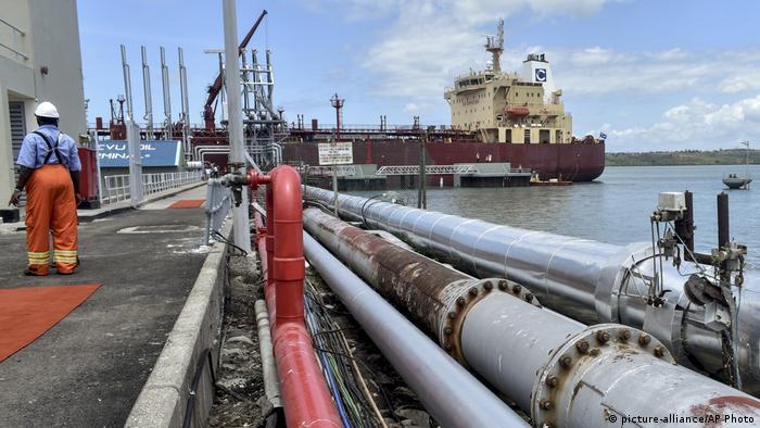 Ölterminal im kenianischen Hafenstadt Mombasa