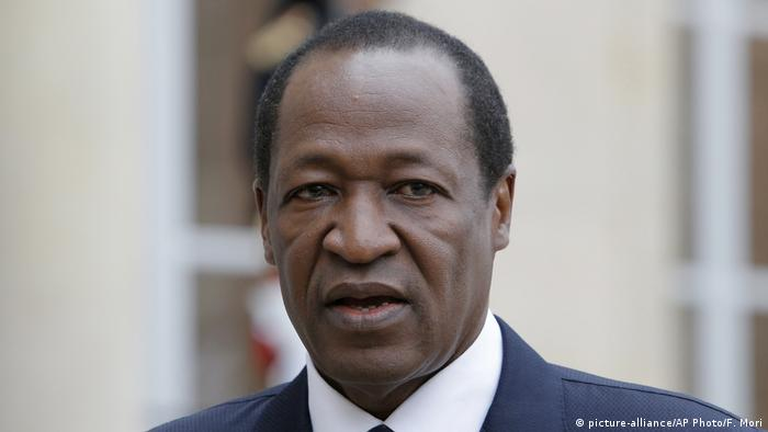 The ex-president of Burkina Faso, Blaise Compaore