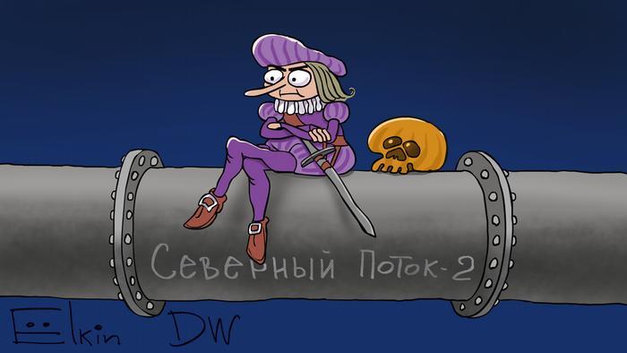 Być albo nie być w wydaniu rosyjskim - karykatura Sergieja Elgina