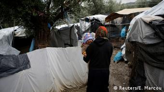 Griechenland Flüchtlingslager auf Lesbos (Reuters/E. Marcou)