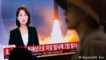 Nordkorea Raketentest (Reuters/H. Ran)