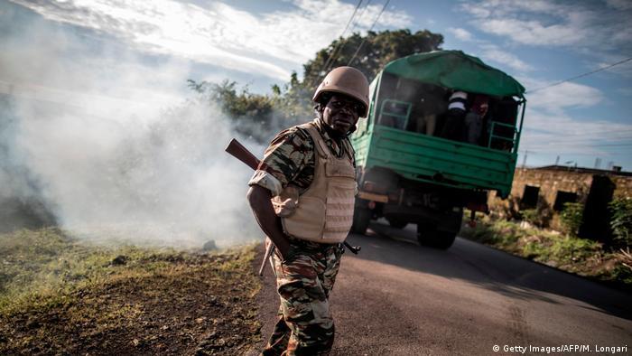 KamerunMilitaire camerounais à Buea en zone anglophone