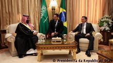 Saudi-Arabien Riad Treffen Jair Bolsonaro mit Kronprinz Mohammed bin Salman