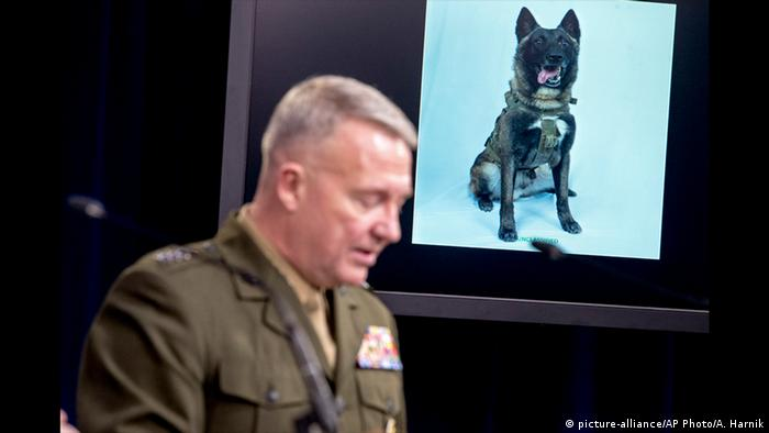 Washington PK al-Baghdadi Einsatz Militärhund Conan (picture-alliance/AP Photo/A. Harnik)