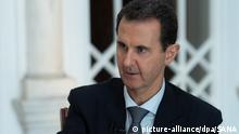 Syrien Damaskus Fernsehinterview Assad
