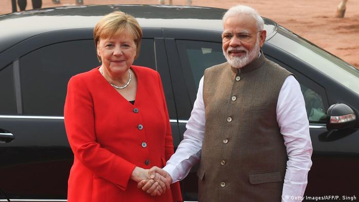 Indien Neu Delhi | Angela Merkel bei Narendra Modi