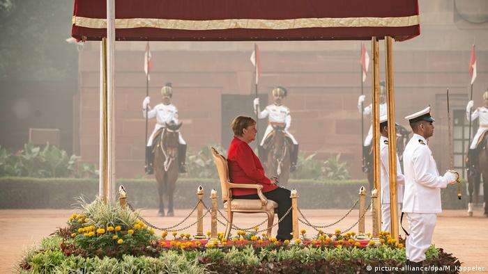 Angela Merkel en Nueva Delhi. (1.11.2019).