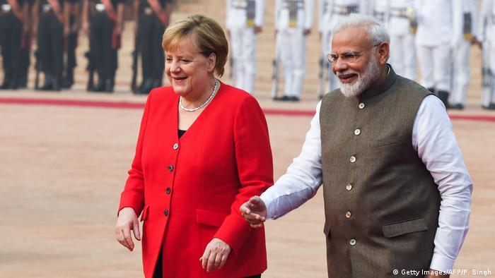 Indien Neu Dehli | Angela Merkel bei Narendra Modi
