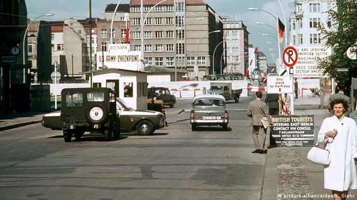 Berlin Checkpoint Charlie in the 1960s