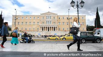 Griechenland Athen | Parlamentsgebäude (picture-alliance/dpa/A. Angelopoulou)