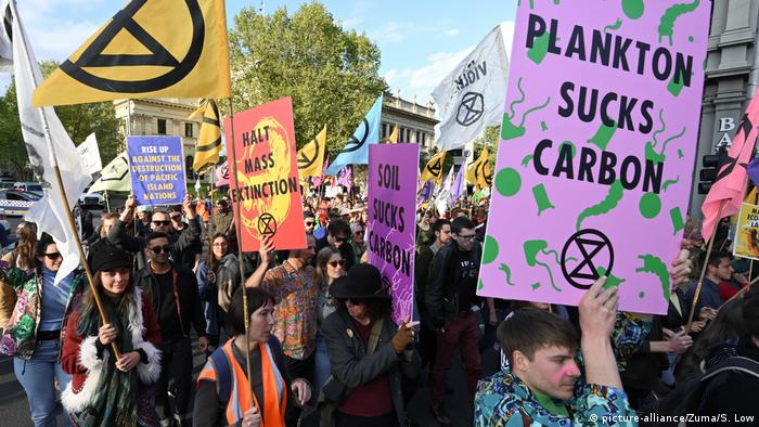 Extinction Rebellion protesters in Melbourne