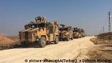 Syrien Darbasiyah türkische und russische Truppen patrouillieren im Norden