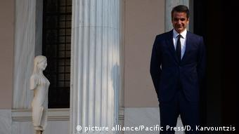 Griechenland l Ministerpräsident Kyriakos Mitsotakis (picture alliance/Pacific Press/D. Karvountzis)