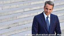 August 22, 2019, Paris, France: President Emmanuel Macron received the Greek Prime Minister Kyriakos Mitsotakis at the Elysee Palace for talks on August 22, 2019. (Credit Image: © Julien Mattia/Le Pictorium Agency via ZUMA Press |