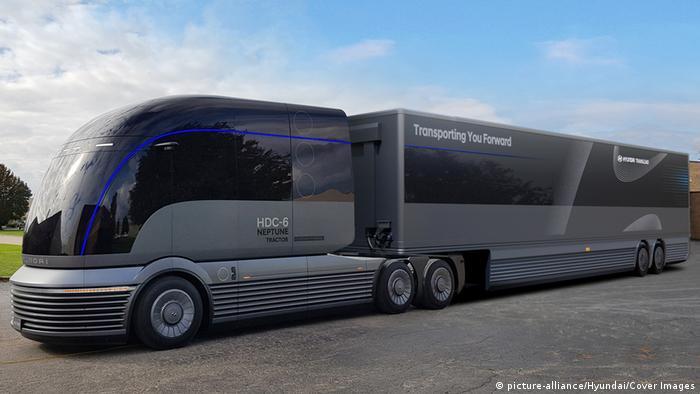 Prototipe truk hidrogen HDC-6 Neptune dari Hyundai