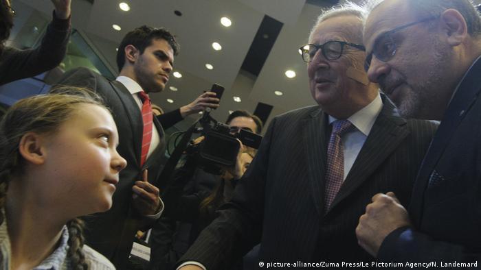 Greta Thunberg & Jean-Claude Juncker