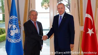 Türkei Istanbul Treffen Erdogan und Guterres