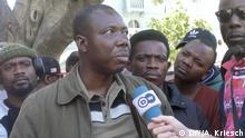 31.10. am Greenmarket Square in Kapstadt JP Balous, Sprecher und Anführer der Flüchtlinge in der Methodisten-Kirche am Greenmarket Square in Kapstadt. Er kommt aus der DR Congo.