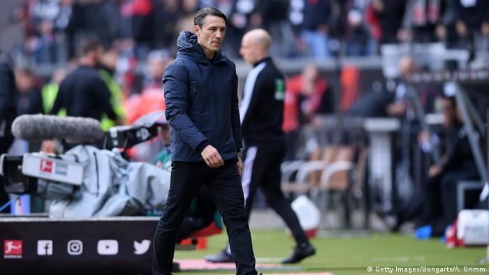 Fussball Bundesliga l Eintracht Frankfurt vs Bayern München l Enttäuschung - Kovac (Getty Images/Bongarts/A. Grimm)