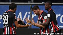 Fussball Bundesliga l Eintracht Frankfurt vs Bayern München l Tor 3:1 Ndicka Jubel