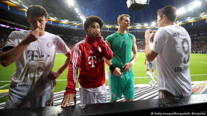 Bayern's players after the loss to Frankfurt (Getty Images/Bongarts/A. Bongarts/)