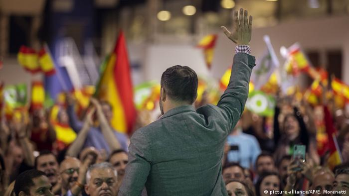 Santiago Abascal, the leader of the Vox Party