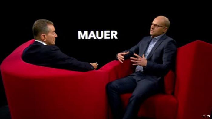 DW TV AEW Michel Friedman /Auf ein Wort ... mit Christoph Kleinschmidt l Mauer