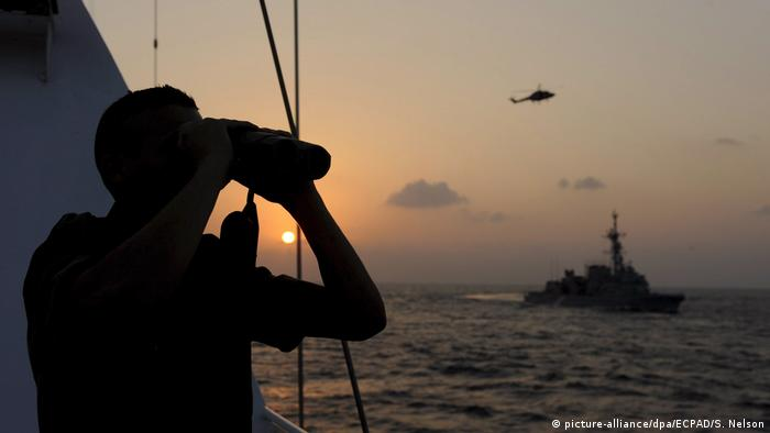A French sailor on a anti-pirate mission in the Indian Ocean