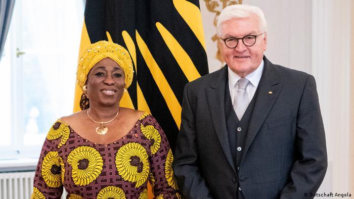 Deutschland Berlin Angolas Botschafterin Balbina da Silva wird von Bundespräsident Steinmeier akkreditiert