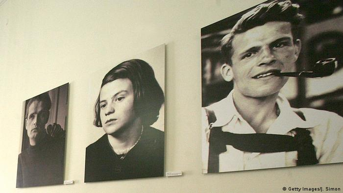 Portraits of Christoph Probst, Hans Scholl and Sophie Scholl