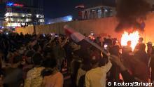 Irak Kerbala Proteste vor dem iranischen Konsulat